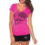 Metal Mulisha Summer Life Ladies V-Neck T-Shirt