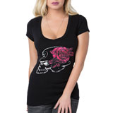Metal Mulisha Women's Rose Petals V-Neck T-Shirt