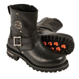 Milwaukee Leather Classic Engineer Short Motorcycle Boots