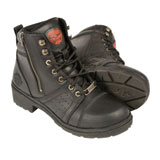 Milwaukee Leather Lace To Toe Ladies Motorcycle Boots
