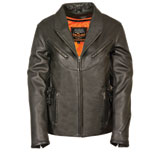 Milwaukee Leather Updated Ladies Vented Leather Motorcycle Jacket