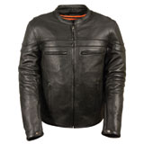 Milwaukee Leather Sporty Crossover Leather Motorcycle Jacket