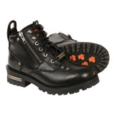 Milwaukee Leather Low Cut Lace To Toe Ladies Motorcycle Boots