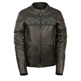 Milwaukee Leather Crossover Reflective Ladies Leather Motorcycle Jacket