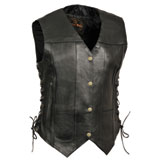 Milwaukee Leather Women's 6 Pocket Side Lace Motorcycle Vest