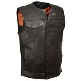 Milwaukee Leather Collarless Club Style Motorcycle Vest
