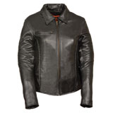 Milwaukee Leather Braided Ladies Leather Motorcycle Jacket