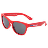 Minishades Youth Classic Sunglasses - Ages 3-7+ Red Hot Frame/Grey Polarized Lens
