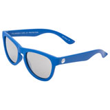 Minishades Youth Classic Sunglasses - Ages 8-12+ Cosmic Blue Frame/Silver Mirror Polarized Lens