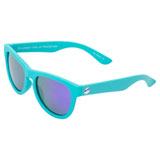 Minishades Youth Classic Sunglasses - Ages 8-12+ Totally Teal Frame/Purple Mirror Polarized Lens