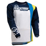 Moose Racing Sahara Jersey White/Navy/Yellow