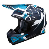 Moose Racing F.I. Agroid MIPS Helmet Navy/Light Blue