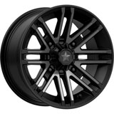 MSA M40 Rogue Wheel Satin Black/Titanium Tint