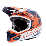 MSR 2019 MAV4 w/MIPS Helmet Blue/Orange/White