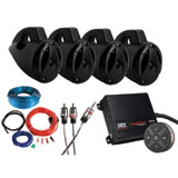 MTX Bluetooth Controlled Motorsports Sound Package - 4 Speaker