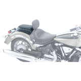 Mustang Solo Seat, Wide Rear Motorcycle Seat - Studded
