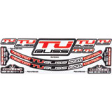 Nuetech Tubliss Gen2 (Tubeless) Tire System Rim Sticker Kit