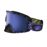 Oakley O2 MX Goggle Rain of Terror Blue Purple Frame/Ice Iridium Lens