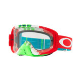 Oakley O2 MX Goggle Pinned Race Red Green Frame/Clear Lens