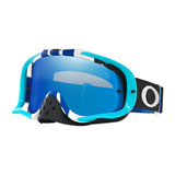 Oakley Crowbar Goggle Pinned Race Blue White Frame/Black Ice Iridium Lens