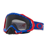 Oakley Mayhem Pro Goggle Reaper Red-White-Blue Frame/Dark Grey Lens