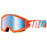 100% Strata Goggle Orange Frame/Blue Mirror Lens