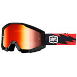 100% Strata Goggle Slash Frame/Red Mirror Lens