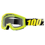 100% Strata Goggle  Yellow Frame/Clear Lens