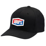100% Classic Flex Fit Hat Black