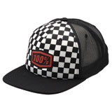 100% Youth Checkers Snapback Trucker Hat