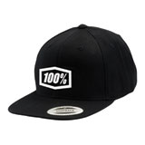 100% Youth Corpo Snapback Hat Black