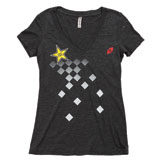 One Industries Rockstar Checked Ladies V-Neck T-Shirt