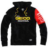 100% Geico/Honda Factory Zip-Up Hooded Sweatshirt