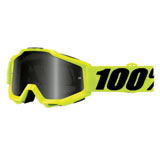 100% Accuri Sand Goggle  Fluo Yellow Frame/Grey Smoke Lens