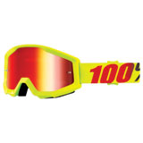 100% Strata Goggle Mercury Frame/Red Mirror Lens