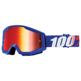 100% Strata Goggle Nation Frame/Red Mirror Lens