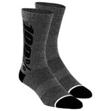 100% Rhythm Merino Performance Socks Charcoal Heather