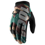 100% Brisker Gloves Camo/Black
