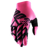 100% Celium II Gloves Neon Pink/Black