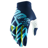 100% Celium II Gloves Navy/Ice Blue/Fluo Lime