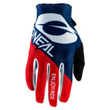 O'Neal Racing Matrix Stacked Gloves Blue/Red