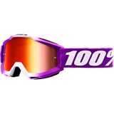 100% Accuri Goggle Framboise Frame/Red Mirror Lens