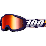 100% Accuri Goggle Grib Frame/Red Mirror Lens