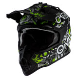 O'Neal Racing Youth 2 Series Attack Helmet Black/Neon Yellow