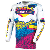 O'Neal Racing Mayhem Crackle 91 Jersey Yellow/White/Blue
