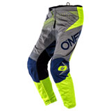 O'Neal Racing Element Factor Pants Grey/Blue/Neon Yellow