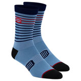 100% Advocate Performance Socks Blue