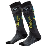 O'Neal Racing Pro MX Print Socks Villain Grey