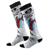 O'Neal Racing Pro MX Print Socks Villain White