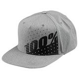 100% Youth Oscillate Snapback Hat Grey